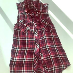 RAILS Sleeveless Plaid/Flannel Size XS.